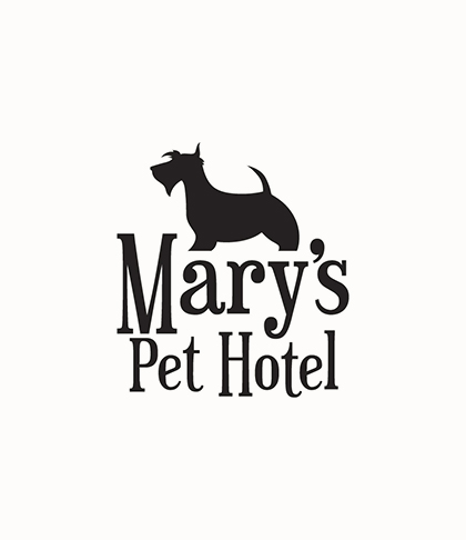 inuq estudio diseño logotipo marys pet hotel